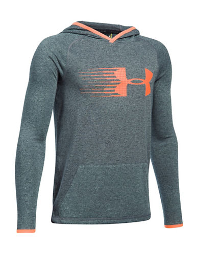 Under Armour UA Threadborne Siro Heathered Hoodie-GREY-Medium 89245103_GREY_Medium