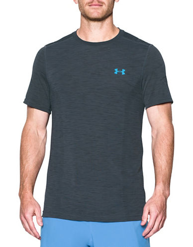 Under Armour UA Threadborne Seamless T-Shirt-GREY-Large