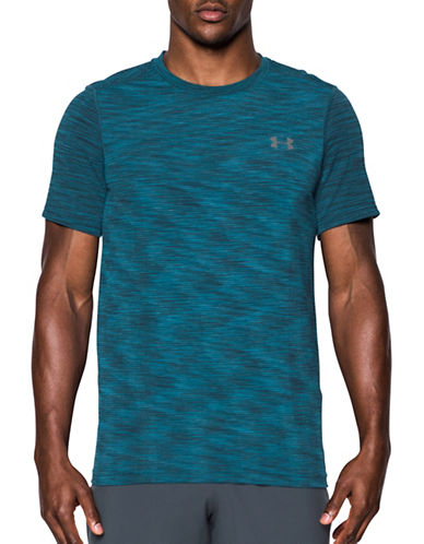 Under Armour UA Threadborne Seamless T-Shirt-BLUE-Small