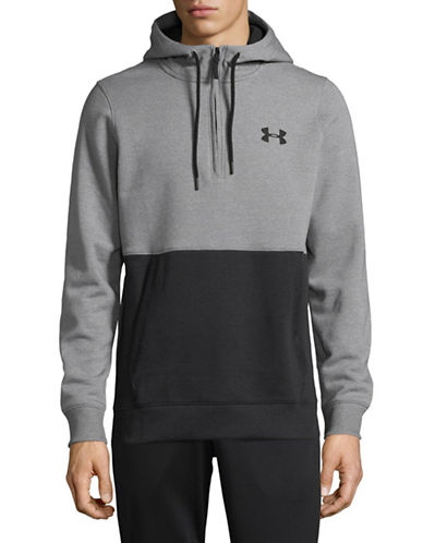 Under Armour Threadborne Seamless Hoodie-GREY-Large