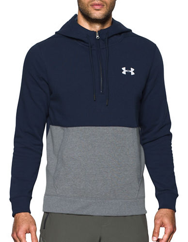 Under Armour Threadborne Seamless Hoodie-BLUE-Large