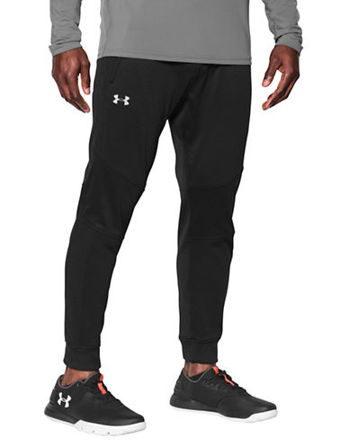 Under Armour ColdGear Reactor Fleece Tapered Pants-BLACK-Large 89694305_BLACK_Large