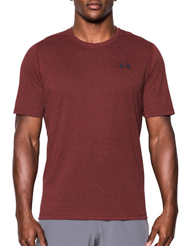 Under Armour Threadborne Siro 3C Twist T-Shirt-RED-X-Large