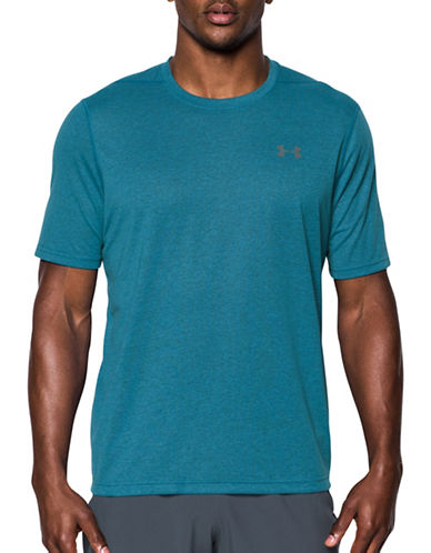 Under Armour Threadborne Siro 3C Twist T-Shirt-BLUE-Small