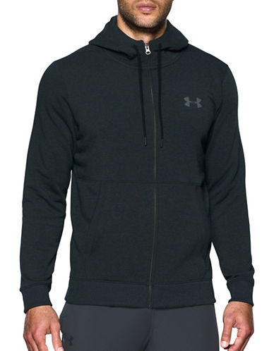 Under Armour Threadborne Fleece Full-Zip Hoodie-GREY-Medium