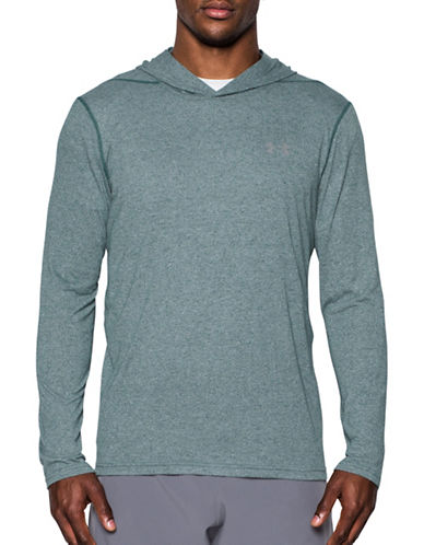 Under Armour Threadborne Siro Hoodie-GREEN-XX-Large