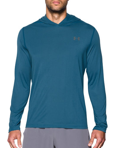 Under Armour Threadborne Siro Hoodie-BLUE-Large