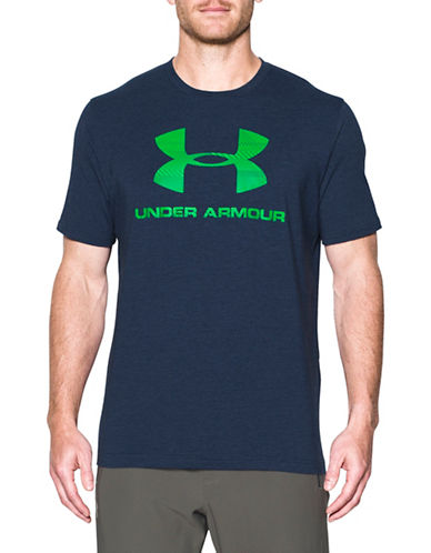 Under Armour Sportstyle Logo Tee-BLUE-X-Large 89622011_BLUE_X-Large