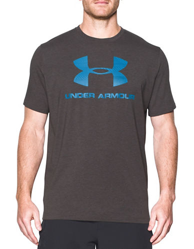 Under Armour Sportstyle Logo Cotton T-Shirt-CHARCOAL-Small 89322463_CHARCOAL_Small