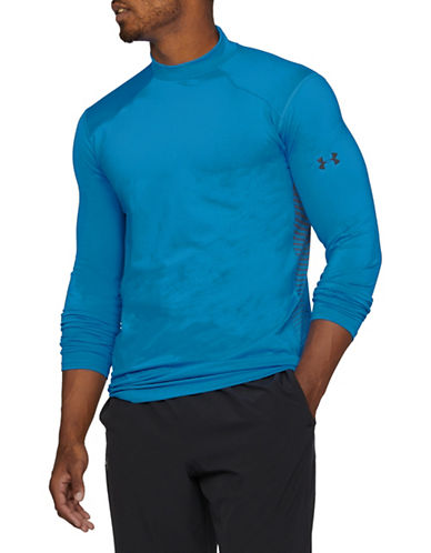 Under Armour ColdGear Reactor Fitted Long Sleeve Top-BLUE-Medium 89694246_BLUE_Medium