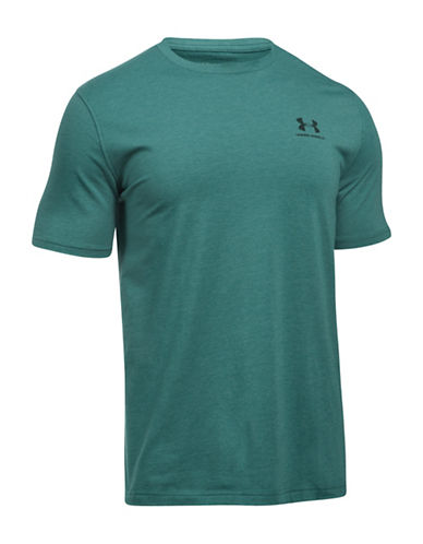 Under Armour Lockup Cotton Tee-GREEN-X-Large