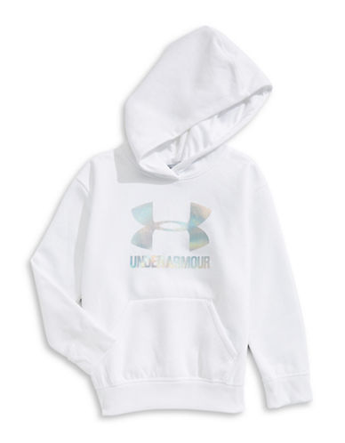 Under Armour Threadborne Fleece Hoodie-WHITE-X-Small