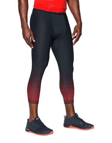 Under Armour HeatGear Armour Graphic Three-Quarter Leggings-GREY-XX-Large