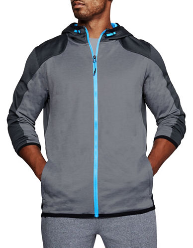 Under Armour ColdGear Reactor Fleece Full Zip Hoodie-GREY-X-Large 89694282_GREY_X-Large