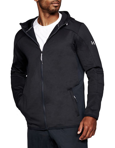 Under Armour ColdGear Reactor Fleece Full Zip Hoodie-BLACK-X-Large 89694271_BLACK_X-Large