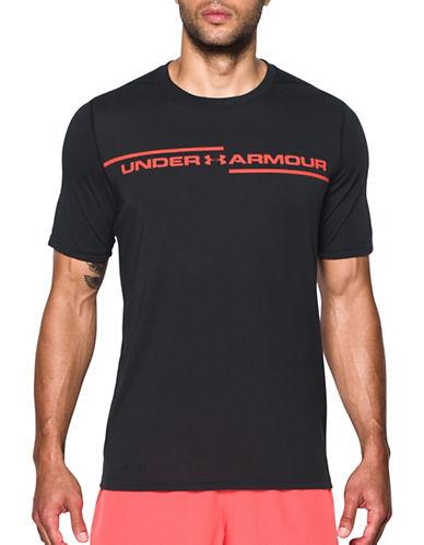 Under Armour Threadborne Cross Chest T-Shirt-BLACK-Large
