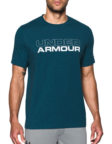 Under Armour Wordmark T-Shirt-BLUE-Small