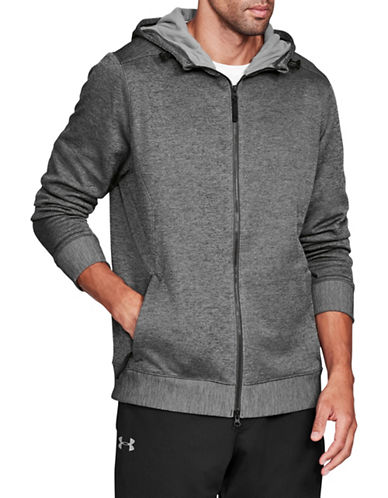 Under Armour Sportstyle Hooded Fleece Sweater-GREY-Small 89694320_GREY_Small