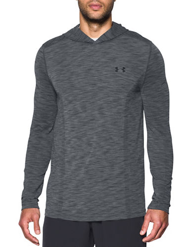 Under Armour Threadborne Fleece Half-Zip Hoodie-GRAPHITE-Large