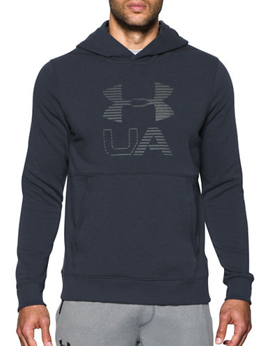 Under Armour Threadborne Fleece Graphic Hoodie-BLACK-X-Large