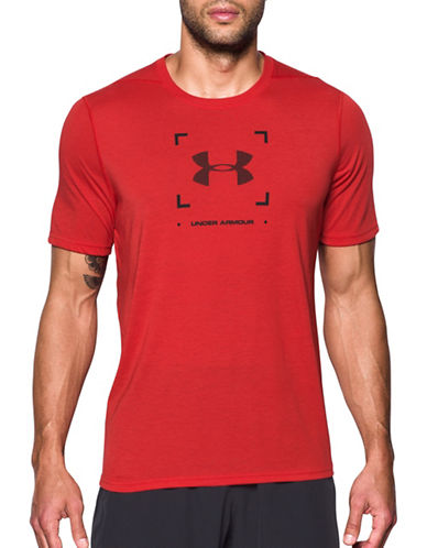 Under Armour Threadborne Target Logo T-Shirt-RED-XX-Large