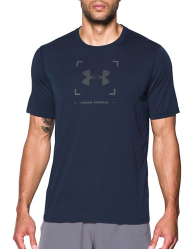 Under Armour Threadborne Target Logo Tee-NAVY-Medium