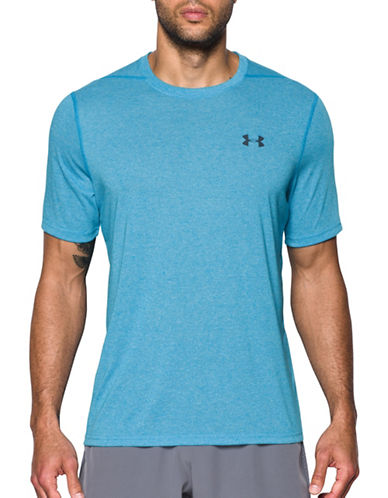 Under Armour Threadborne Siro T-Shirt-BLUE-XX-Large