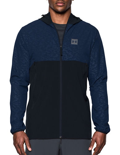 Under Armour Sportstyle Fishtail Jacket-BLUE-Large