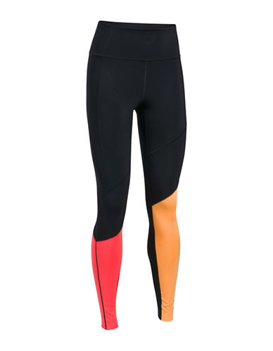 Under Armour UA Mirror BreatheLux Asymmetrical Hi-Rise Leggings-BLACK-Large