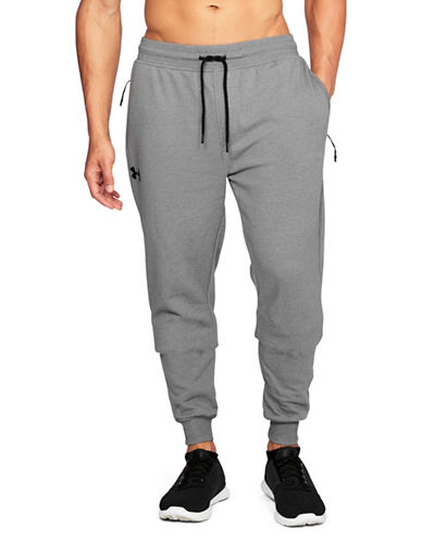 Under Armour Threadborne Fleece Stacked Jogger Pants-GREY-Small 89461594_GREY_Small