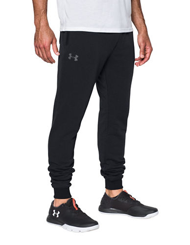 Under Armour Threadborne Fleece Stacked Jogger Pants-BLACK-Large