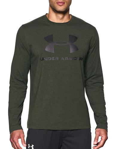 Under Armour UA Sportstyle Long Sleeve T-Shirt-GREEN-Medium 89351994_GREEN_Medium