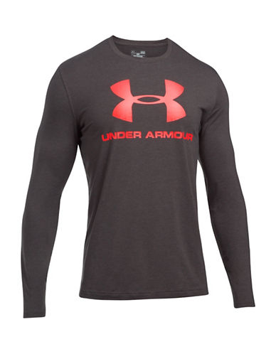 Under Armour Sports Style Long Sleeve Tee-GREY-Large