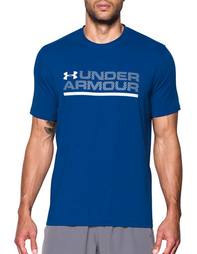 Under Armour Charged Cotton Logo T-shirt-BLUE-Large