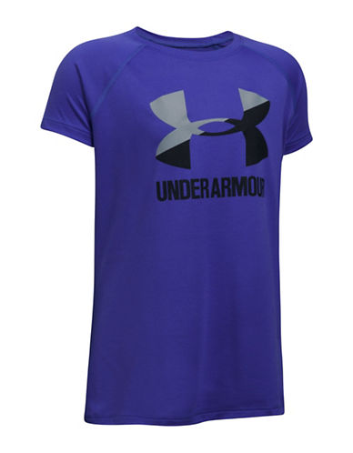 Under Armour Big Logo Raglan Tee-PURPLE-6