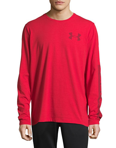 Under Armour Classic Long Sleeve Sweatshirt-RED-XX-Large