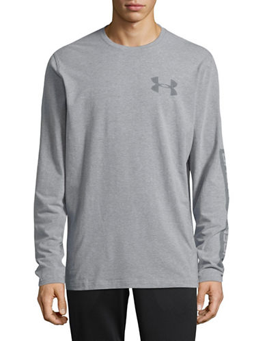 Under Armour Classic Long Sleeve Sweatshirt-GREY-Large