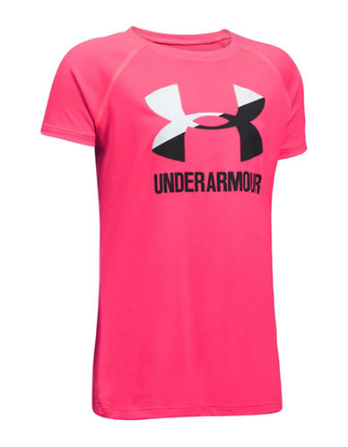 Under Armour Logo Short-Sleeve Tee-PINK-10-12 89985373_PINK_10-12