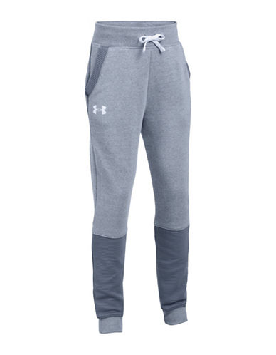 Under Armour Embossed Panel Jogger Pants-GREY-Medium