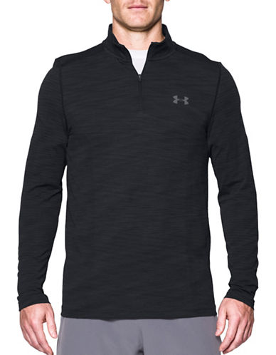 Under Armour Threadborne Seamless Zip Pullover-BLACK-XX-Large 89352032_BLACK_XX-Large