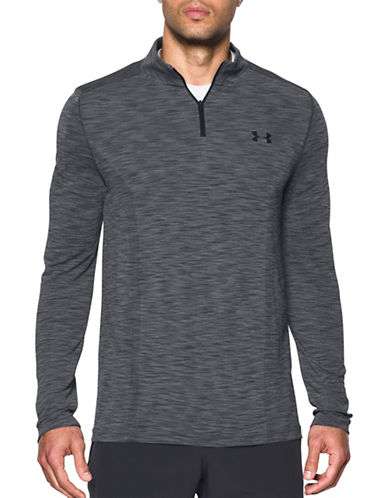 Under Armour Threadborne Seamless Quarter-Zip Top-GREY-Large