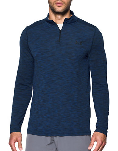 Under Armour Threadborne Seamless Quarter-Zip Top-BLUE-X-Large