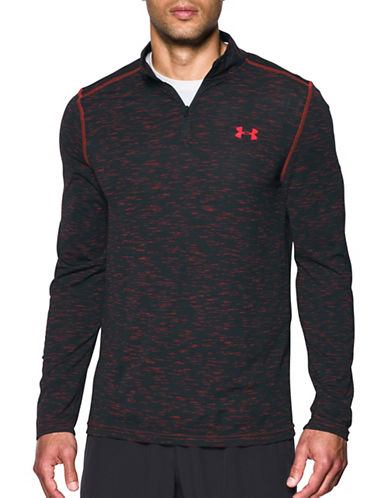 Under Armour Threadborne Seamless Quarter-Zip Top-RED-Medium
