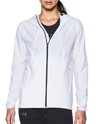 Under Armour Out Run the Storm Jacket-WHITE-Large