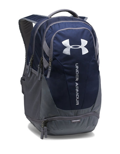 Under Armour Hustle 3.0 Backpack-BLUE-One Size
