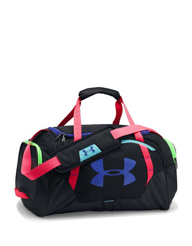 Under Armour Undeniable Colorful Small Duffle Bag-BLACK/PURPLE-One Size