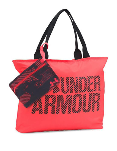 Under Armour Big Wordmark Tote-RED-One Size