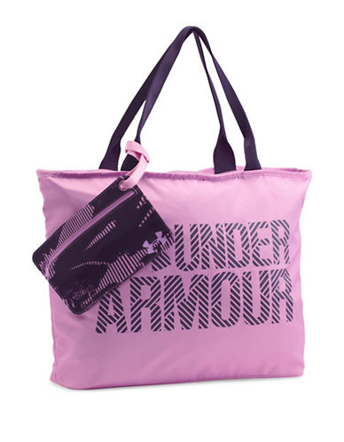 Under Armour Big Wordmark Tote-PINK-One Size