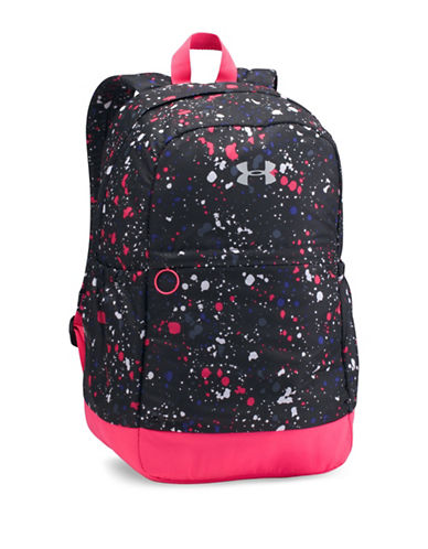 Under Armour Favorite Paint Splatter Backpack-BLACK-One Size