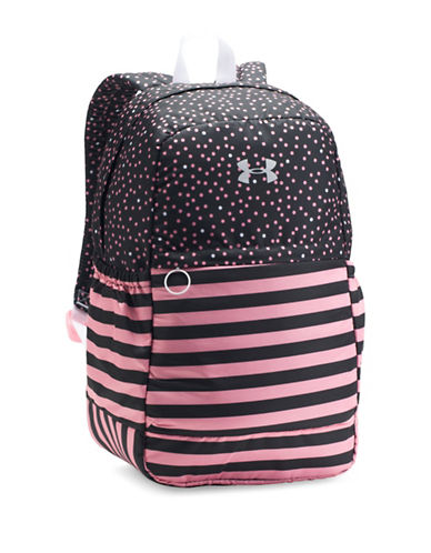 Under Armour Striped and Polka Dot Favourite Backpack-PINK-One Size